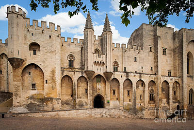 Gothic Bridge Photograph - Papal Castle In Avignon by Inge Johnsson
