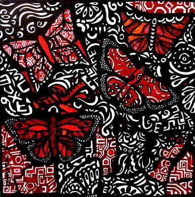 Etnic Art Painting - Papalotzin by Nancy Ordonez