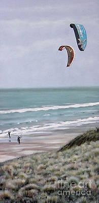 Papamoa Beach 090208 Art Print by Sylvia Kula