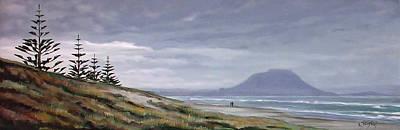 Papamoa Beach 140108 Art Print by Sylvia Kula