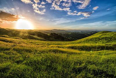 Papamoa Hills Sunset Art Print by Pavel Blahnik