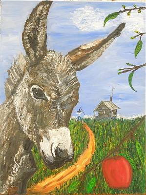 Painting - Papas Last Apple by Randolph Gatling