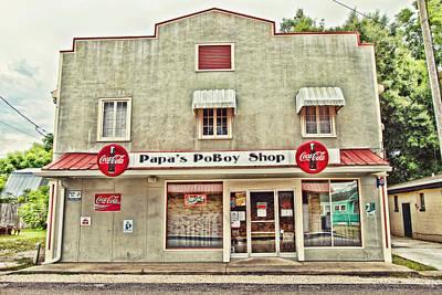 Coca-cola Sign Photograph - Papa's Poboy Shop by Scott Pellegrin