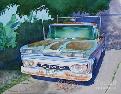 Tumbleweed Painting - Papa's Ride by Amanda Schuster