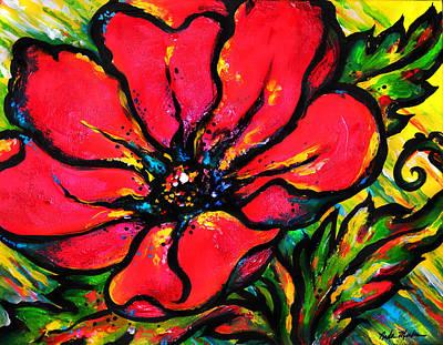 Water Droplets Sharon Johnstone - Poppy I by Nada Meeks