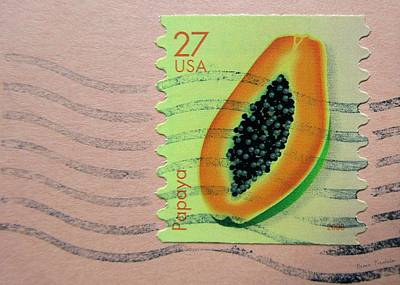 Photograph - Papaya Stamp by Renee Trenholm