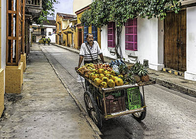 Photograph - Tropical Fruit Vendor by Maria Coulson