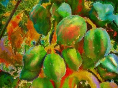 Painting - Papayas Getting Ripe - Horizontal  by Lyn Voytershark