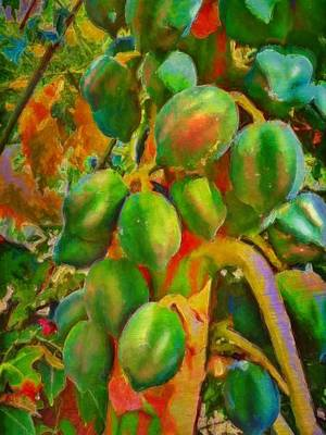 Painting - Papayas Getting Ripe - Vertical by Lyn Voytershark