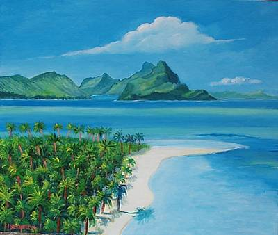 Papeete Bay In Tahiti Art Print