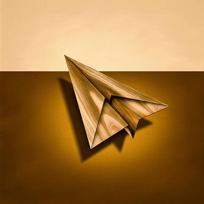 Paper Airplanes Of Wood 1 Art Print
