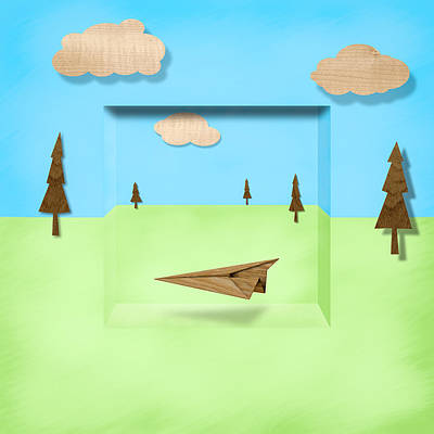 Paper Airplanes Of Wood 11 Art Print by YoPedro
