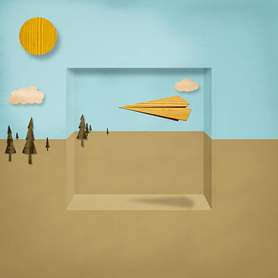 Paper Airplanes Of Wood 12 Art Print by YoPedro