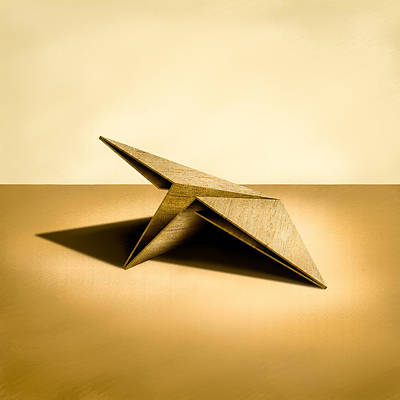Black And Gold - Paper Airplanes of Wood 7 by YoPedro