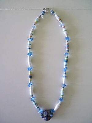 Paper Beads Jewelry - Paper Beads Necklace 1 by Vivian Kwee