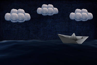 Paper Boat During The Night Original