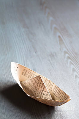 Origami Photograph - Paper Boat by Jan Bickerton