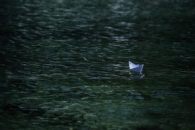Toy Boat Photograph - Paper Boat by Joana Kruse