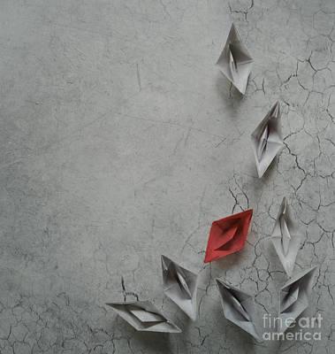 Ground Digital Art - Paper Boats by Jelena Jovanovic