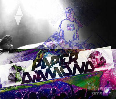 Bass Digital Art - Paper Diamond by Andrew Kaupe