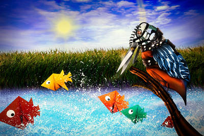 Kingfisher Digital Art - Paper Dreams by Alessandro Della Pietra