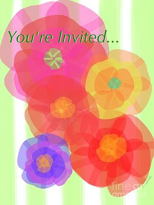 Paper Flowers Invitation  Art Print