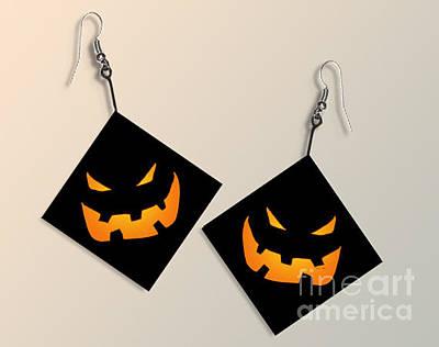 Paper Halloween Pumpkin Earrings Original