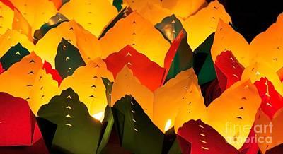Photograph - Paper Lanterns by David Warrington