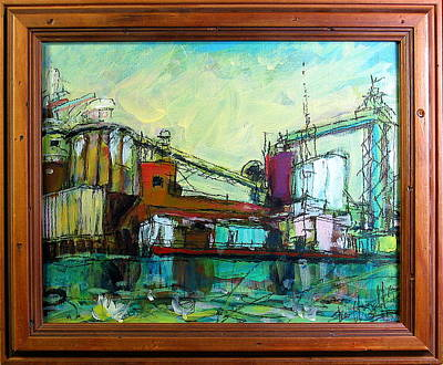 Painting - Paper Mill by Les Leffingwell