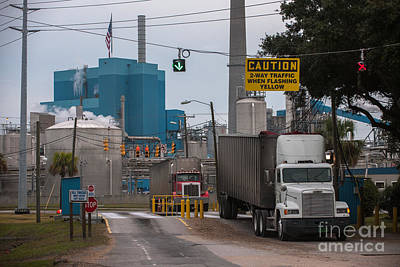 Photograph - Paper Mill Trucking by Dale Powell