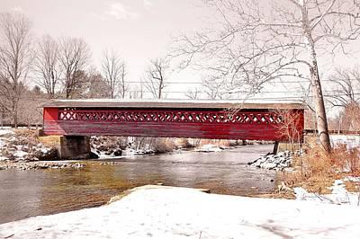 Photograph - Paper Mill Village Bridge by JAMART Photography