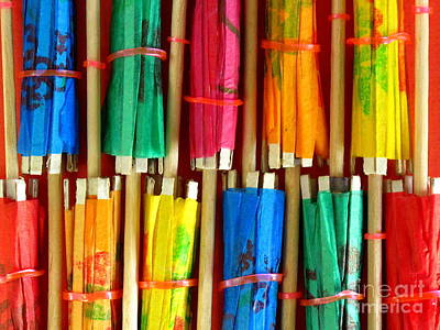 Photograph - Paper Parasols by Ranjini Kandasamy