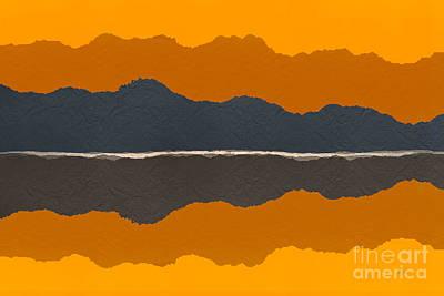 Abstract Digital Art Mixed Media - Paper Terrain by Bedros Awak