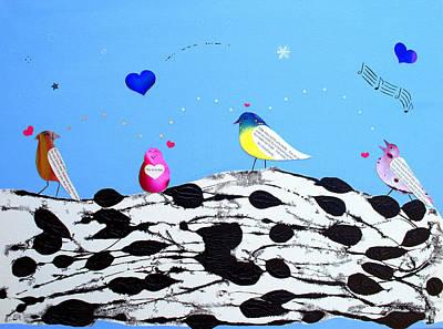 Painting - Paperbirch Friends by Christine Ricker Brandt