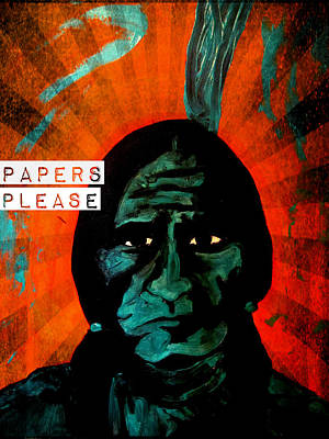 Painting - Papers Please by Michelle Dallocchio