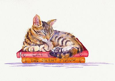 Tabby Cat Painting - Paperweight by Debra Hall