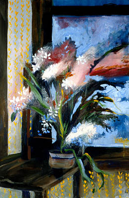 Painting - Paperwhites Getting Away by Lynette Yencho
