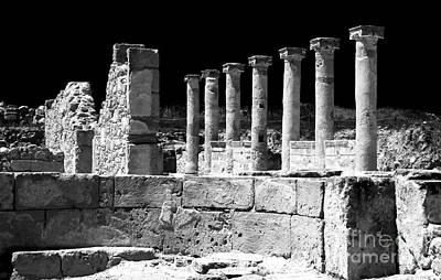 Cypriotic Photograph - Paphos Columns by John Rizzuto