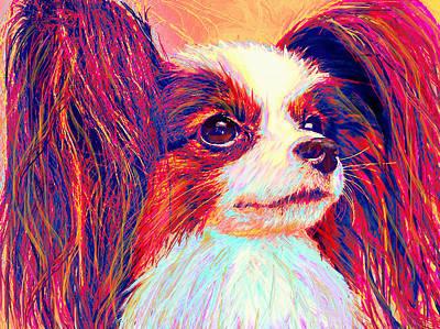 Puppy Digital Art - papillion II by Jane Schnetlage