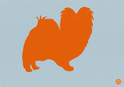 Cute Puppy Photograph - Papillion Orange by Naxart Studio