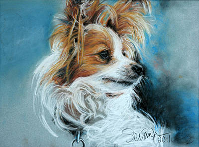 Papillon Art Print by Sciandra