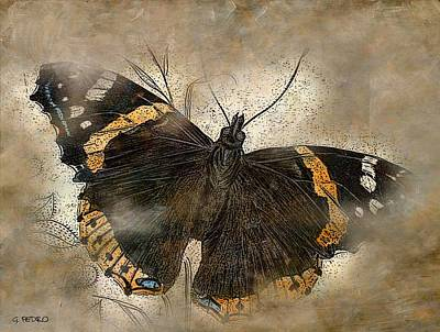 Animals Paintings - Papillon 2 by George Pedro