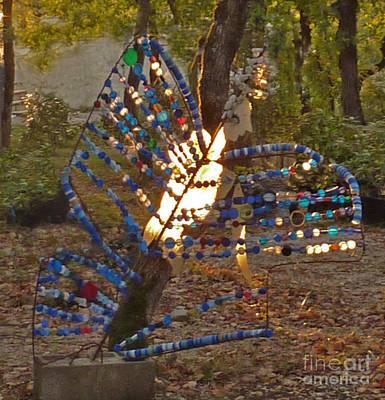 Mixed Media - Papillon by Katia Weyher