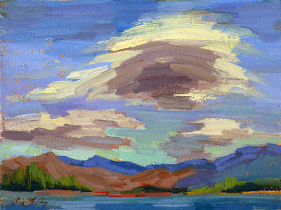 Painting - Papoose Lake And Clouds by Diane McClary