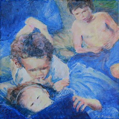 Painting - Papo's Putti by Mark Robbins