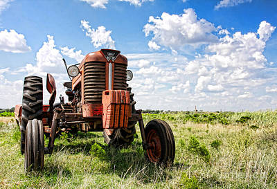 Photograph - Pappa's Tractor by David Lee