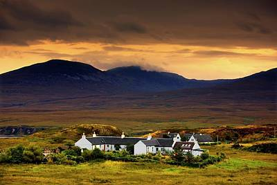 Islay Photograph - Paps Of Jura, Jura, Scotland  Houses by John Short