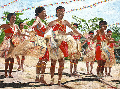 Painting - Papua New Guinea Cultural Show by Carol Tsiatsios