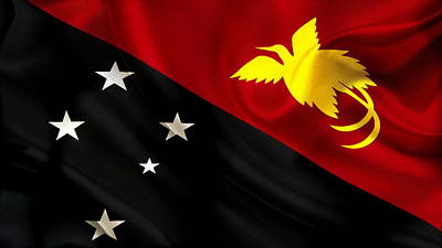 Flags Photograph - Papua New Guinea Flag by VRL Art