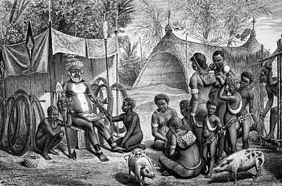 Guinea Wall Art - Photograph - Papua New Guinea Funeral by Bildagentur-online/tschanz